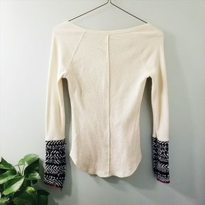 Free People Tops - Free People Alpine Cuff Henley Thermal Top